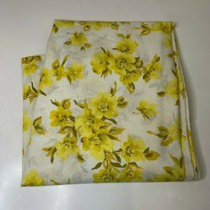 vintage flat sheet twin 72 x104 white with yellow